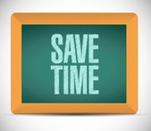 Save time message on a board. illustration — Stockfoto