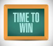 Time to win message on a board. illustration — Stock Photo