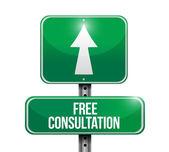 Free consultation street sign illustration design — Foto Stock