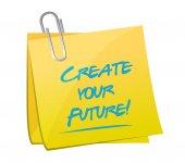 あなたの将来のポストのイラスト デザインを作成します。 — ストック写真