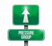 Pressure group street sign illustration design — Stock Photo