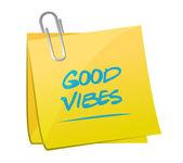 Good vibes memo post illustration design — Stock Photo