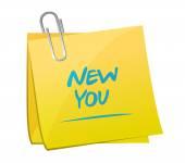New you memo post illustration design — Stock Photo