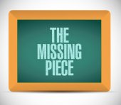 The missing piece message illustration design — Stock Photo