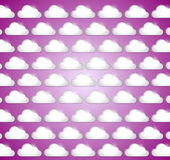 White clouds illustration design — Foto de Stock