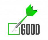 Good dart check mark illustration design — Stock Photo