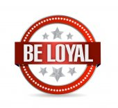 Be loyal seal illustration design — Stock Photo