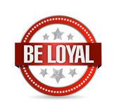 Be loyal seal illustration design — Stock Photo