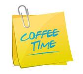 Café time ilustración diseño — Foto de Stock