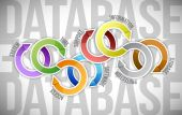 Database cycle illustration design — Stock Photo