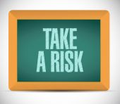 Take a risk message illustration design — Foto de Stock