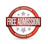 Free admission seal illustration design — Stock Photo