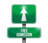 Free admission street sign illustration design — Foto de Stock