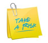 Take a risk memo post illustration design — Φωτογραφία Αρχείου