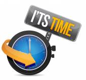 Its time watch illustration design — Stock Photo