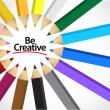 Be creative colors illustration design — Stock Photo #54474161