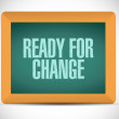 Ready for change message illustration — Stock Photo #54474433