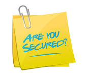 Are you secured memo post illustration design — Stock Photo