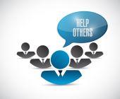 Help others team illustration design — Stock Photo