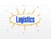 Logistics plan illustration design — Foto de Stock