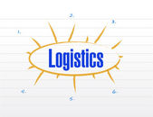 Logistics plan illustration design — Stockfoto
