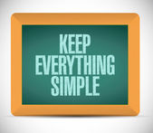 Keep everything simple illustration design — Stock fotografie