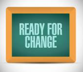 Ready for change message illustration — Stock Photo