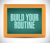 Build your routine message illustration design — Stock Photo