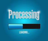 Processing bar illustration design — Stock Photo