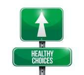 Healthy choices sign illustration design — Stock Photo