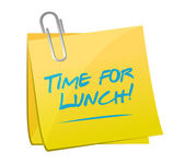 Time for lunch post illustration design — Stock Photo