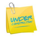 Under construction post illustration design — Stock Photo