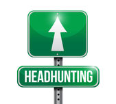 Headhunting street sign — Stock Photo