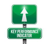 Key performance indicator sign — Stock Photo