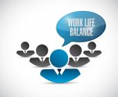 Work life balance team illustration — Stock Photo