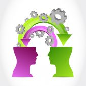 Minds at work concept illustration — Stock Photo