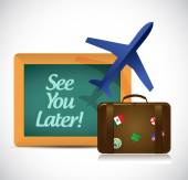 See you later blackboard travel sign — Stock Photo