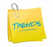 Trends post memo illustration design — Stock Photo