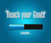 Reach your goals loading bar illustration — Stock Photo