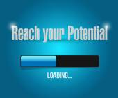 Reach your potential illustration design — Stock Photo