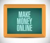 Make money online sign illustration — ストック写真