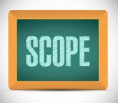 Scope sign illustration design — Stock Photo