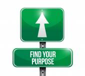 Find your purpose sign illustration design — Foto de Stock