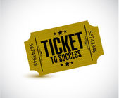 Ticket to success concept illustration — Stock Photo