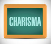 Charisma message illustration design — Stock Photo