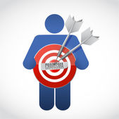 Icon holding a charisma target — Stock Photo