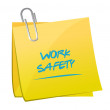 Постер, плакат: Work safety memo post illustration