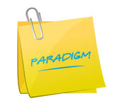 Paradigm memo illustration design — Stock Photo