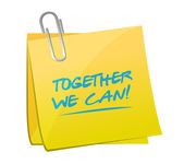Together we can memo post illustration — Stock Photo