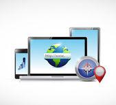 Electronics online concept illustration — Stock Photo